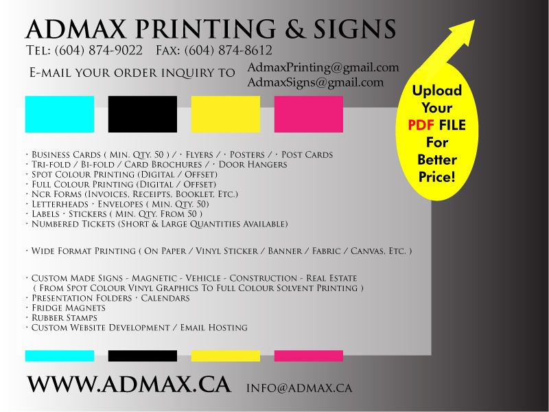 adMax.ca Printing banners without high overhead costs- Vancouver ...